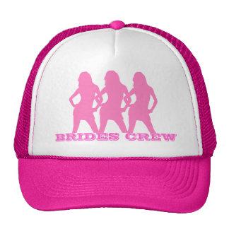 Roze dansende meisjes, bruidenbemanning trucker pet