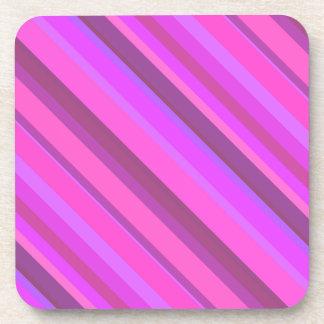 Roze diagonale strepen onderzetter