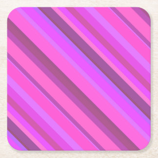 Roze diagonale strepen vierkante onderzetter