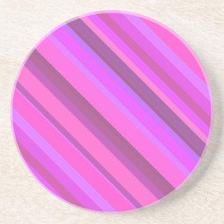 Roze diagonale strepen zandsteen onderzetter
