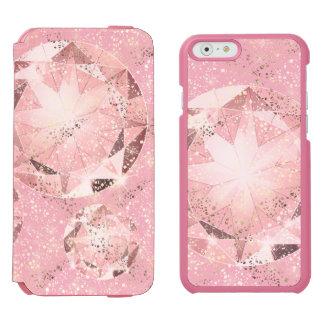 Roze Diamant op Lichte Pastelkleur met Gouden