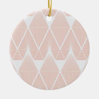 Roze diamanten rond keramisch ornament