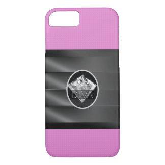 Roze Diva van de Diamant iPhone 7 Hoesje