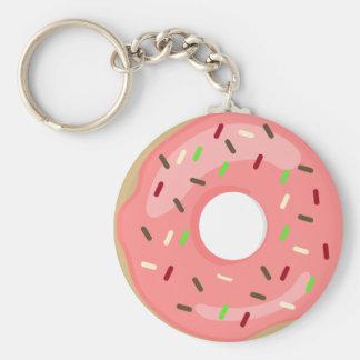 Roze Doughnut Keychain Sleutelhanger