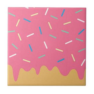 Roze Doughnut Tegeltje