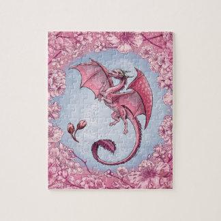 Roze Draak van het Art. van de Fantasie van de Legpuzzel