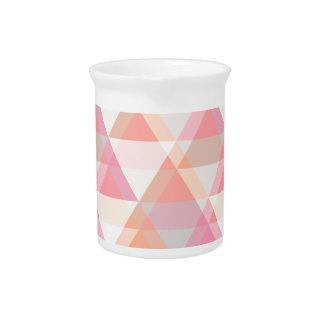 Roze Driehoeken Drink Pitcher