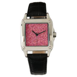 Roze Driehoeken Horloge