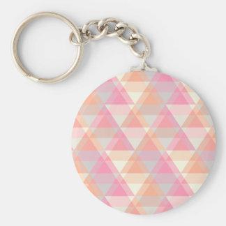Roze Driehoeken Sleutelhanger