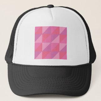 Roze Driehoeken Trucker Pet