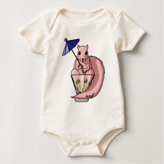 Roze Eekhoorn Baby Shirt