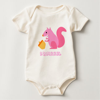Roze Eekhoorn & Eikel Baby Shirt