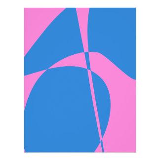 Roze en Blauw Gepersonaliseerde Folder
