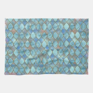 Roze en Blauw patroon Maroccan Theedoek