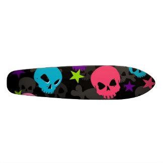 roze en blauw schedelskateboard 19,7 cm skateboard deck