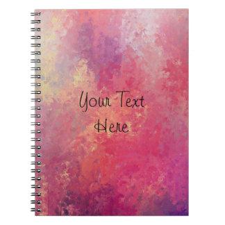 Roze en Gele Hemelen Ringband Notitieboek