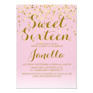 Roze en Gouden Zoete Uitnodiging 16