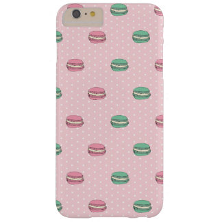 Roze en Groene makarons en polkadot Barely There iPhone 6 Plus Hoesje