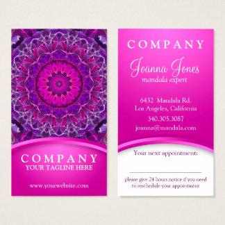 Roze en Paarse het gloeien mandala - roze, Visitekaartjes