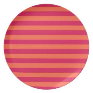 roze en sinaasappel melamine+bord