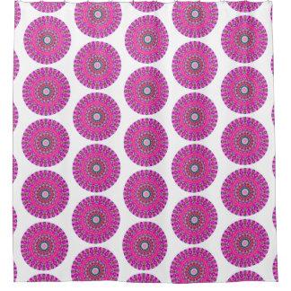 Roze en Turkooise Boho om Mandala (de Druk van LG) Gordijn 0