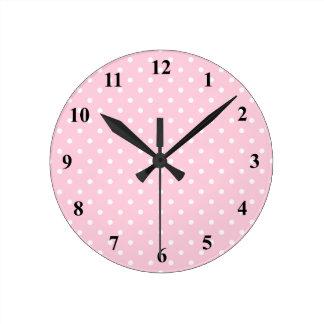 Roze en witte Klantgerichte klok | van de stipmuur