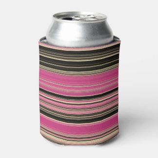 Roze en Zwart Gestreept Patroon Blikjeskoeler