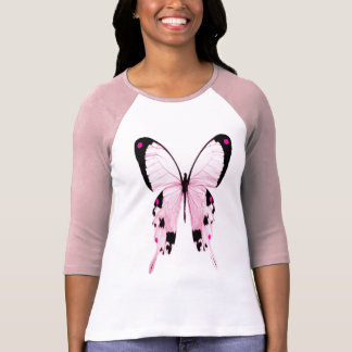 roze en zwart vlinderoverhemd t shirt