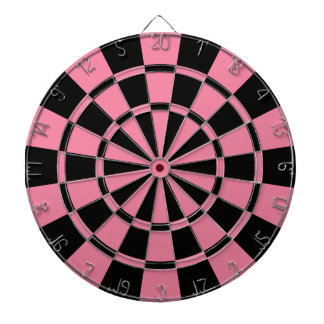 Roze en Zwarte Dartbord