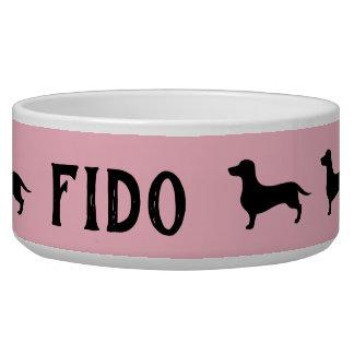 Roze en zwarte het huisdierenkom van het voerbakje