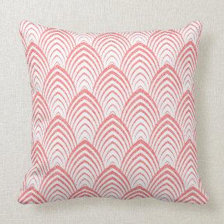 Roze Faux schittert het Geometrische Patroon van Kussen