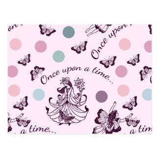 Roze Feeën, Vlinders en Kleurrijke Stippen Briefkaart