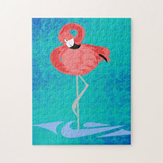 Roze Flamingo Puzzel