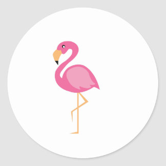 Roze Flamingo Ronde Sticker