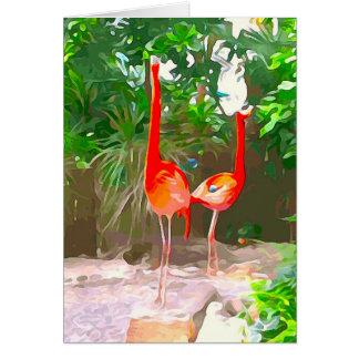 Roze Flamingo's in Key West Kaart
