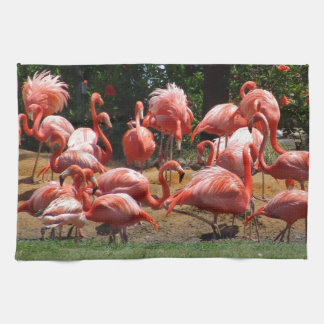 Roze Flamingo's Theedoek