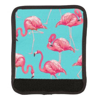 Roze flamingovogels op turkooise achtergrond handvat beschermer