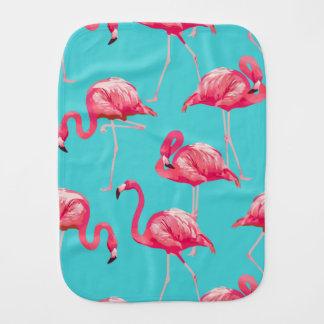 Roze flamingovogels op turkooise achtergrond monddoekje