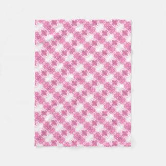 Roze Fonkelende Caleidoscoop Fleece Deken