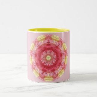 Roze Fractal van het baby Tweekleurige Koffiemok