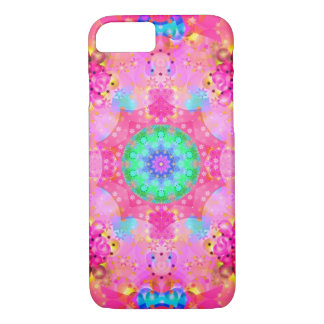 Roze Fractal van Sterren & van Bellen Patroon iPhone 8/7 Hoesje