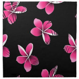 Roze frangipani servet