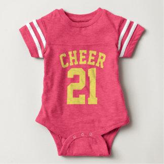 Roze & Geel Baby | Ontwerp van Jersey van Sporten Baby Bodysuit