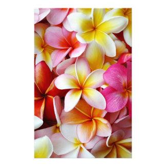 Roze Gele Witte Gemengde Bloem Plumeria Briefpapier