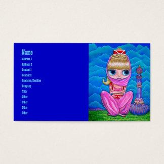 Roze Genie en Haar Magische Fles Visitekaartjes