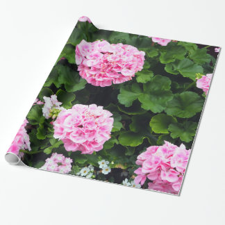 Roze Geraniums 185 Verpakkend Document Cadeaupapier