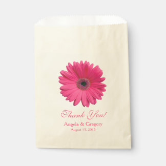 Roze Gerber Daisy Candy Buffet Wedding Favor Bedankzakje