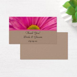 Roze Gerber Daisy Wedding Favor Tags Visitekaartjes