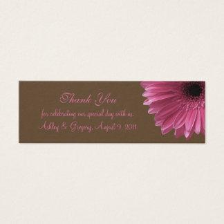 Roze Gerbera Daisy Wedding Favor Tag Mini Visitekaartjes