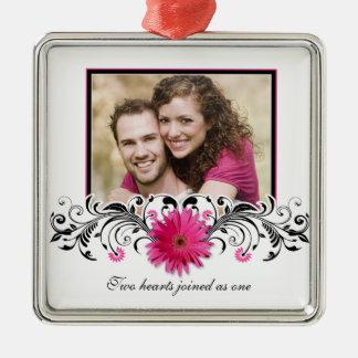 Roze Gerbera Daisy Wedding Love Favor Ornament